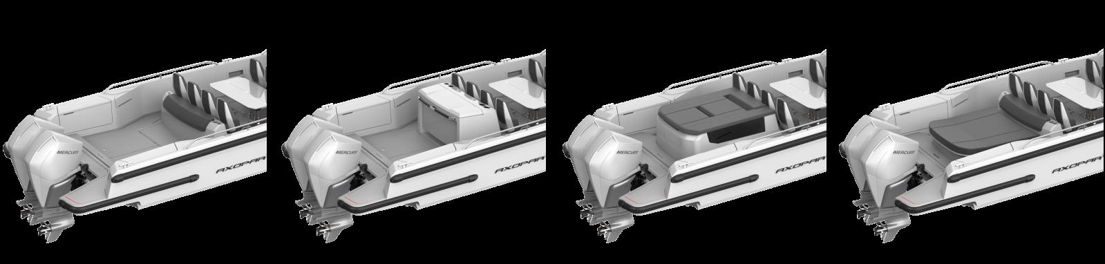 Варианты комплектации кормовой палубы
